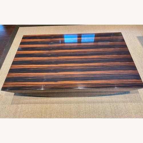 Used Maurice Villency African Zebra Wood Coffee Table for sale on AptDeco