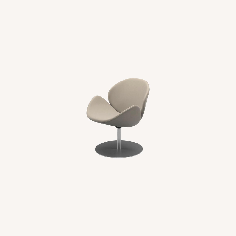 BoConcept Beige Swivel Arm Chair - image-8