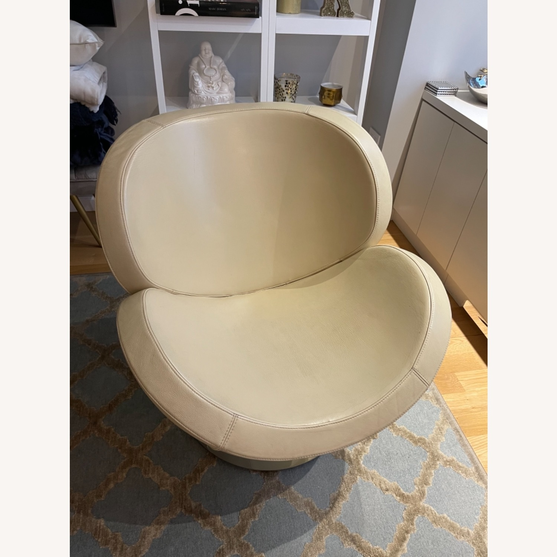 BoConcept Beige Swivel Arm Chair - image-0