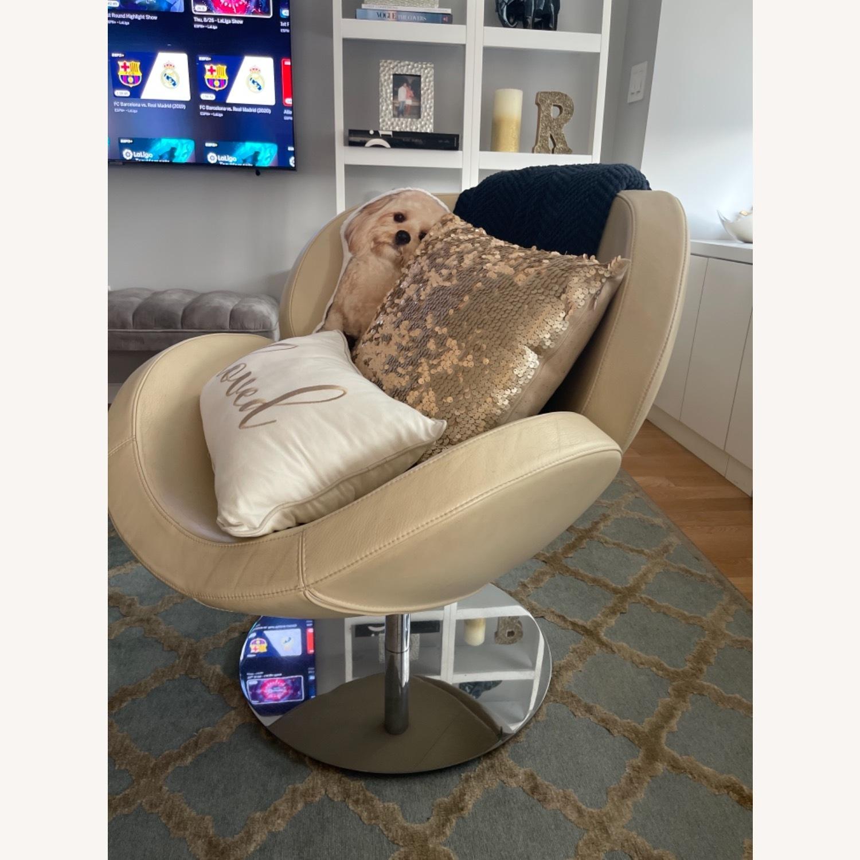 BoConcept Beige Swivel Arm Chair - image-10
