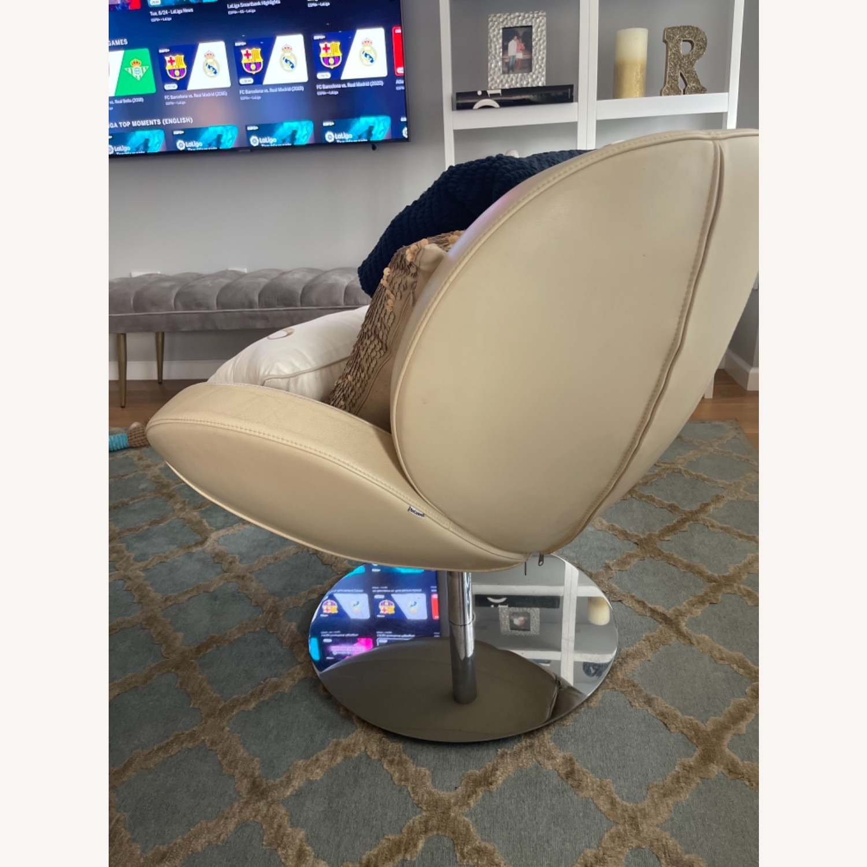 BoConcept Beige Swivel Arm Chair - image-11