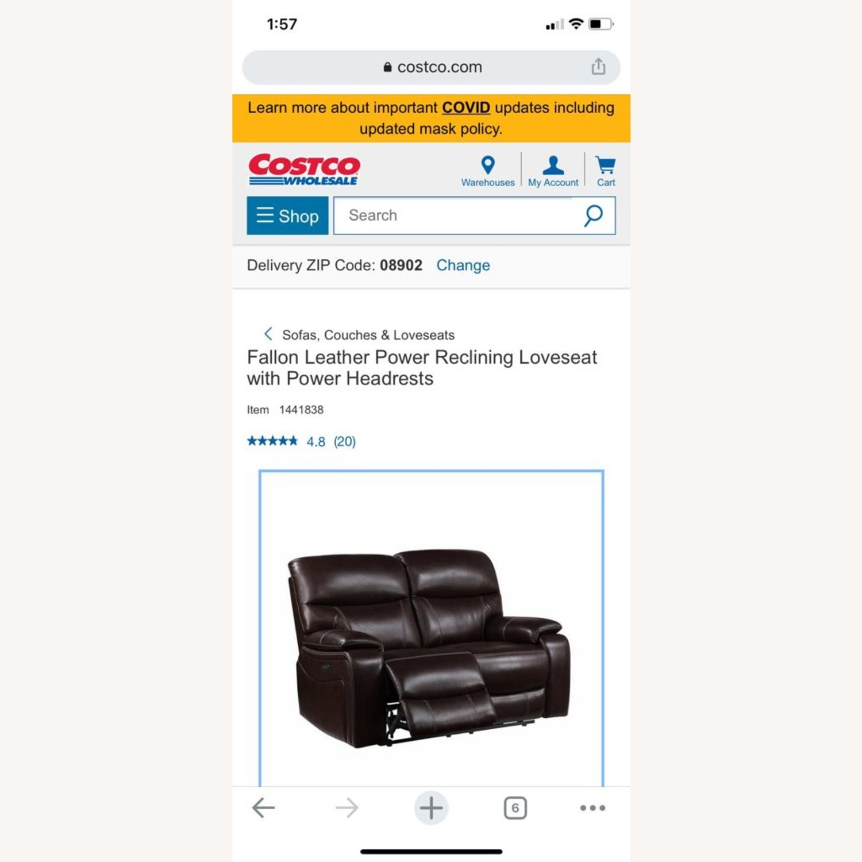 Costsco Fallon Leather Power Reclining Loveseat - image-3