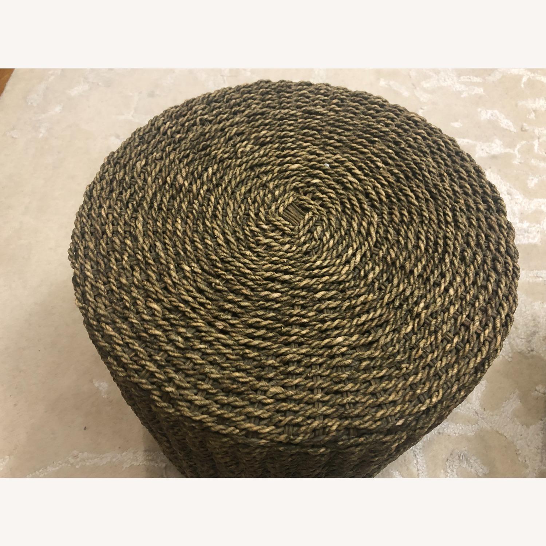Pair of Round Jute Stools - image-4