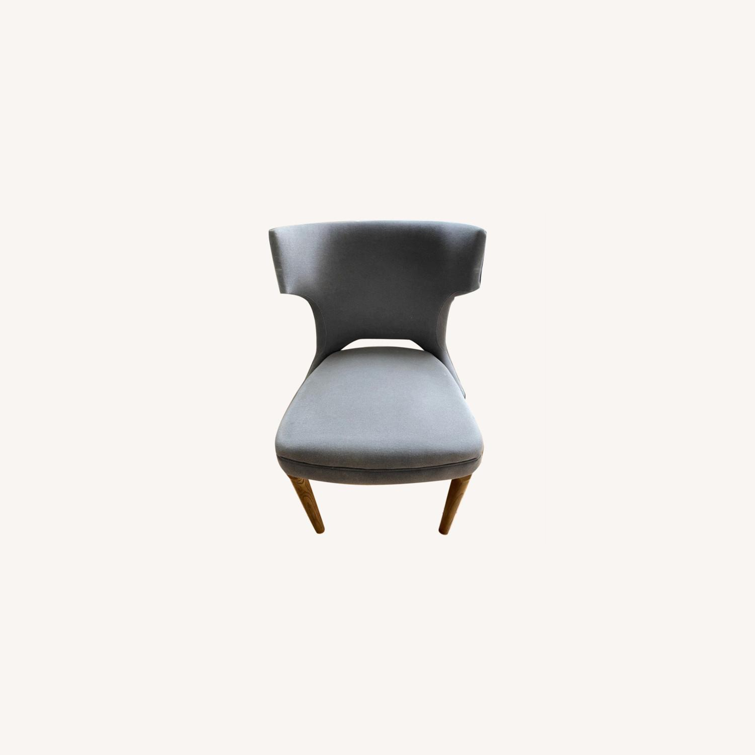 West Elm Nailhead Upholstered Chair - image-0