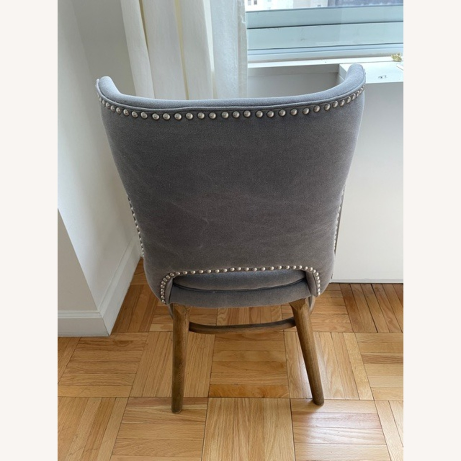 West Elm Nailhead Upholstered Chair - image-2