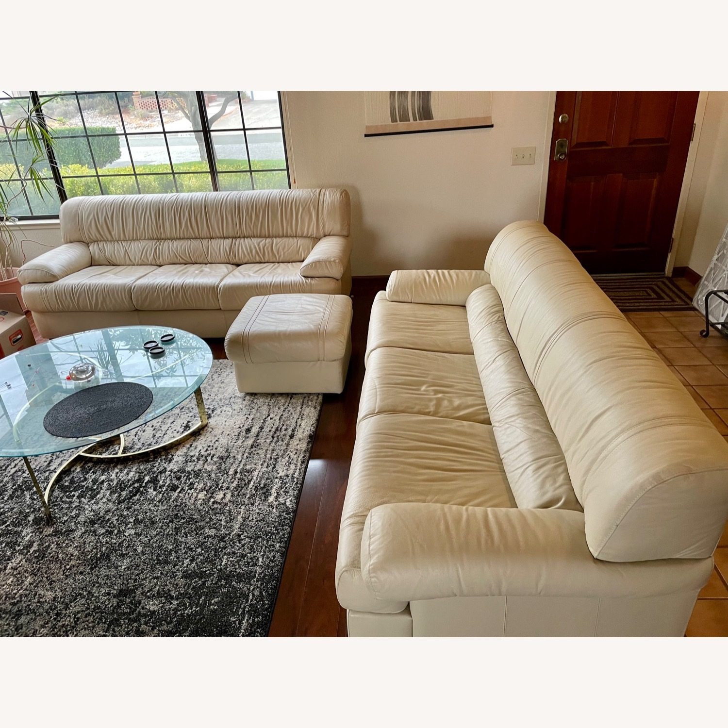 Leather Sofa Set Made in Italy - image-1