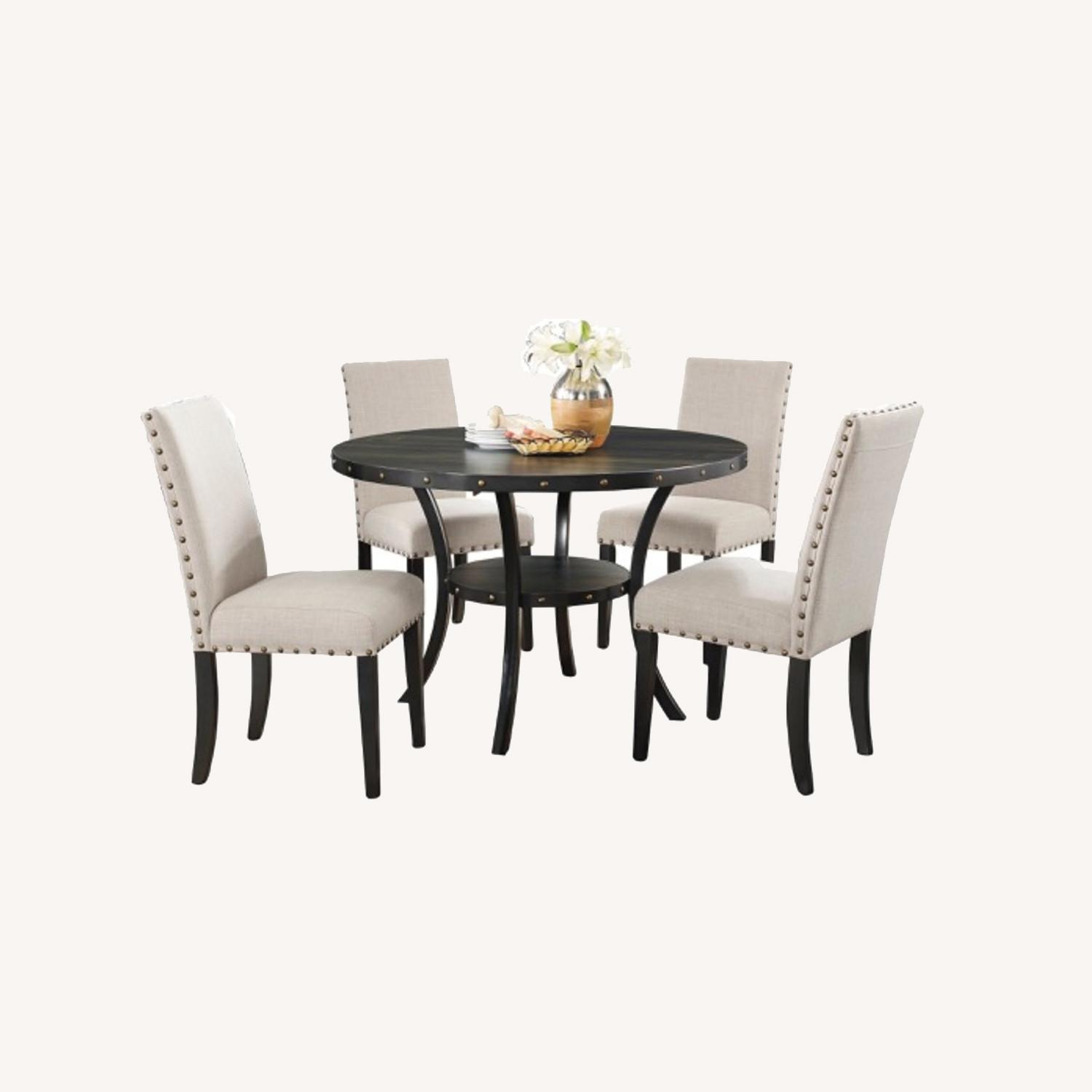 Wayfair Set of Gracie Oaks Upholstered Dining Chairs - image-0