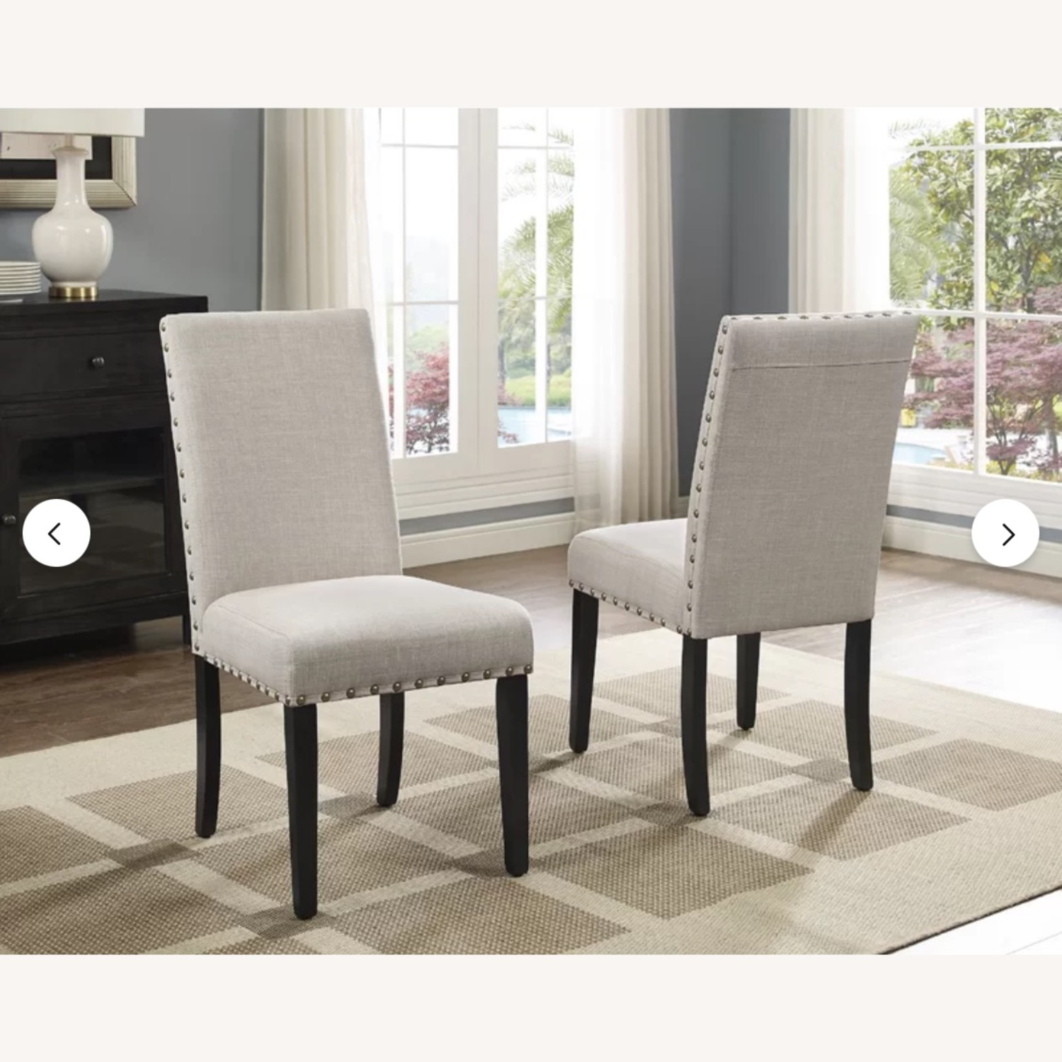 Wayfair Set of Gracie Oaks Upholstered Dining Chairs - image-5