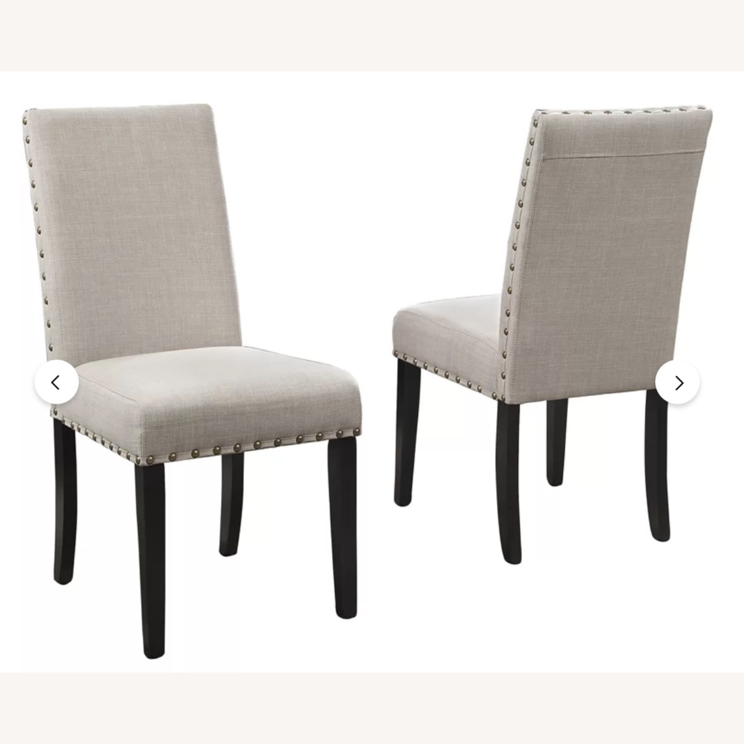 Wayfair Set of Gracie Oaks Upholstered Dining Chairs - image-6