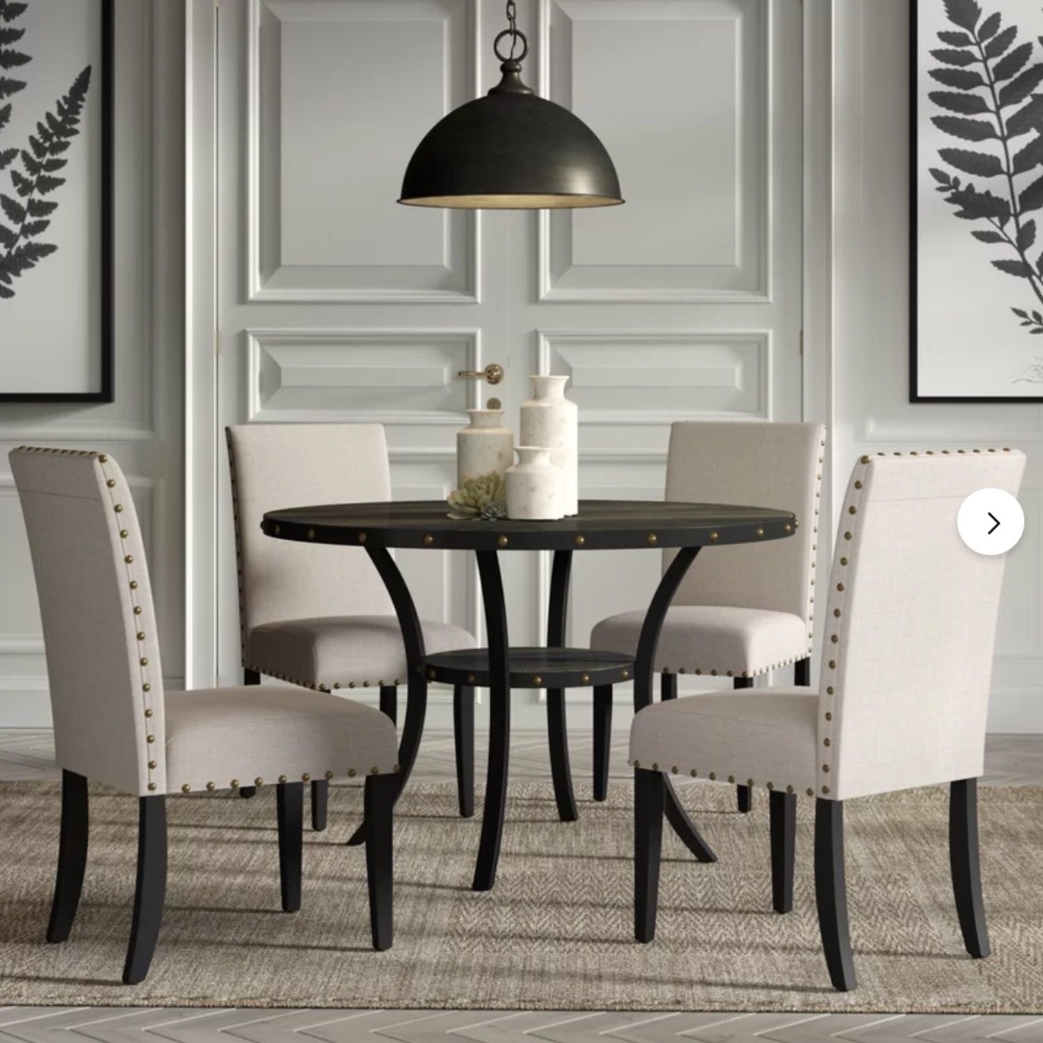 Wayfair Set of Gracie Oaks Upholstered Dining Chairs - image-1