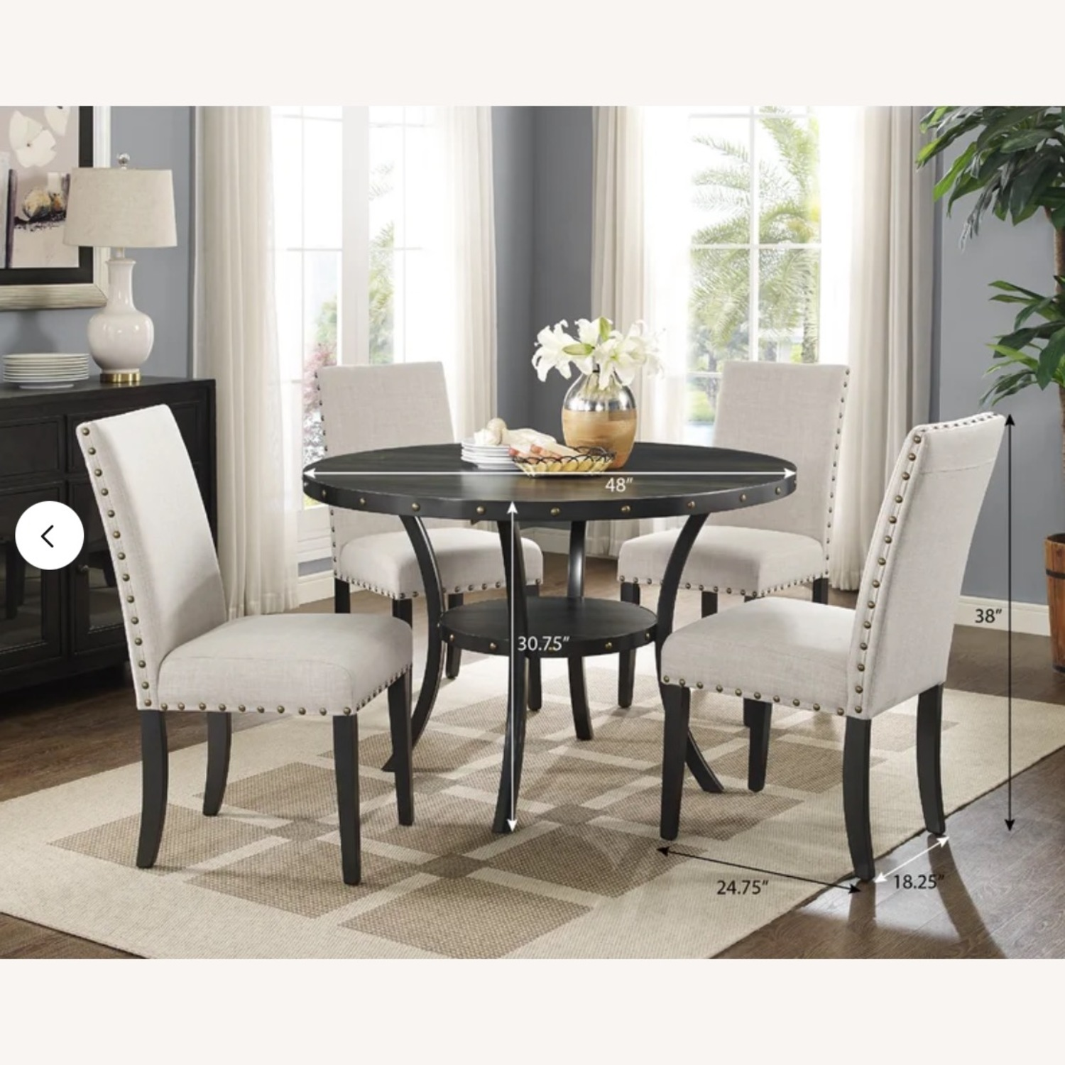 Wayfair Set of Gracie Oaks Upholstered Dining Chairs - image-7