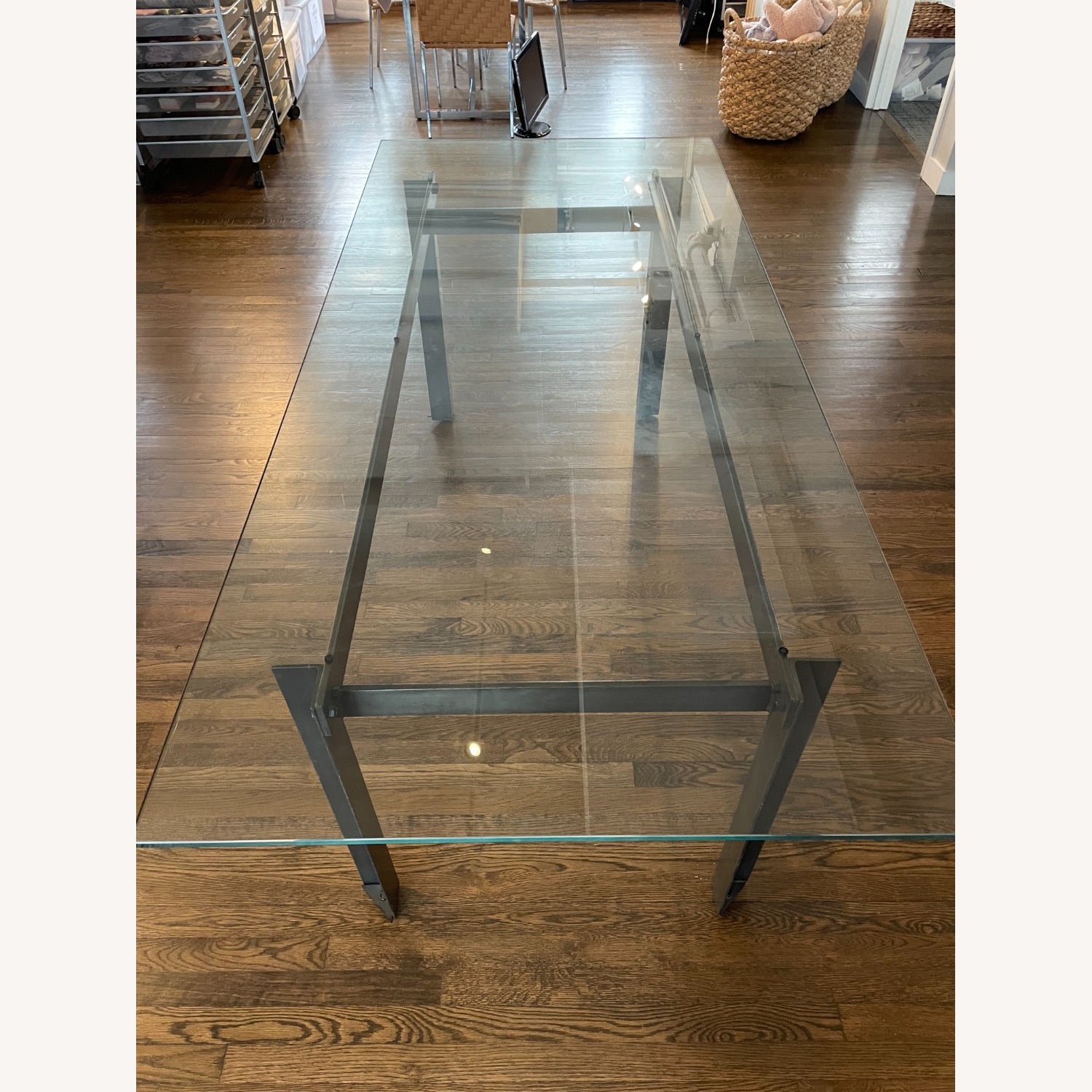 CISCO Brothers Large Glass Dining Table - image-2