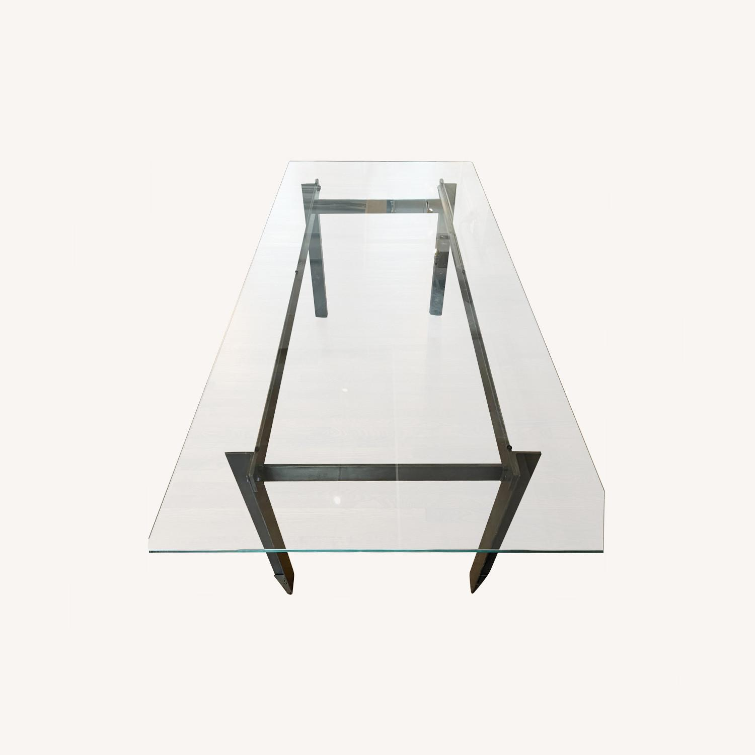 CISCO Brothers Large Glass Dining Table - image-0
