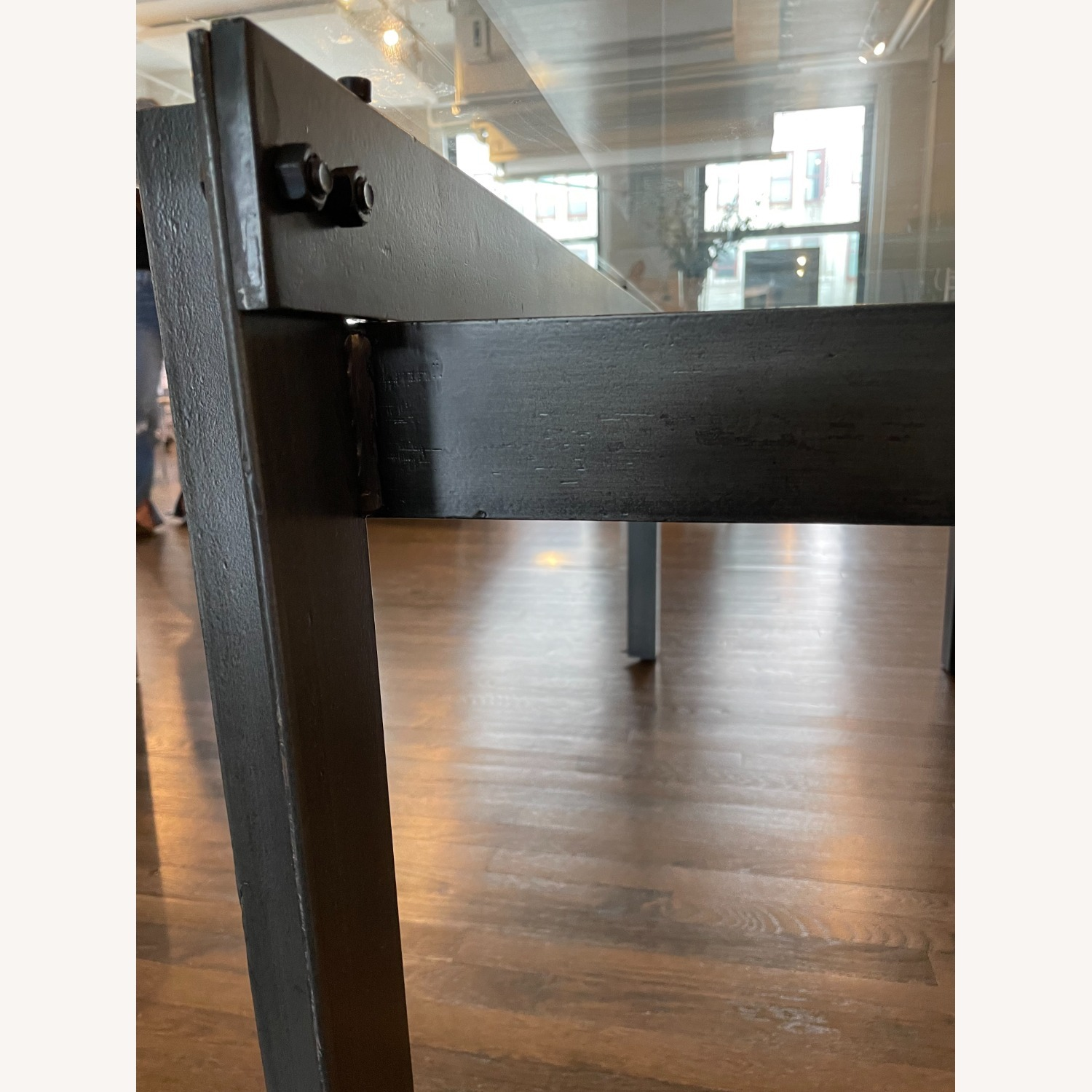 CISCO Brothers Large Glass Dining Table - image-1