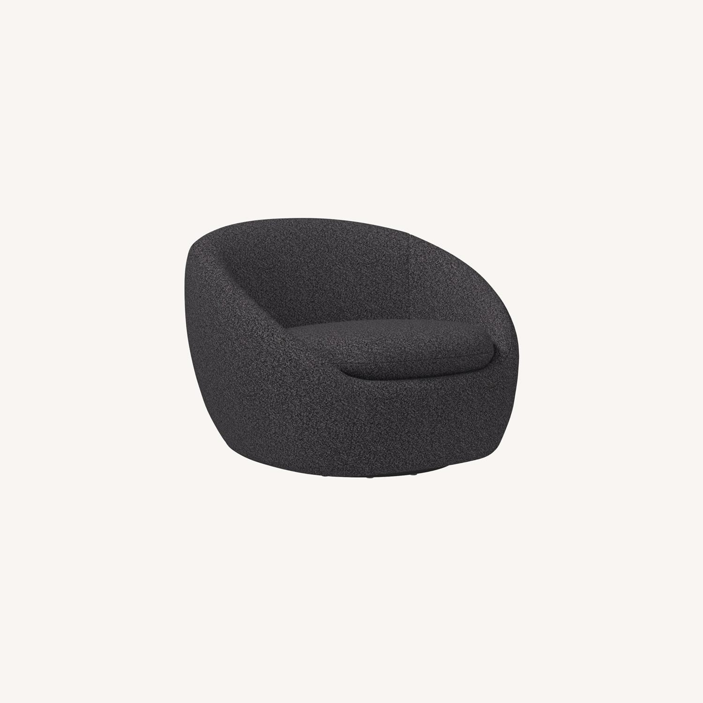 West Elm Cozy Swivel Chair - image-0