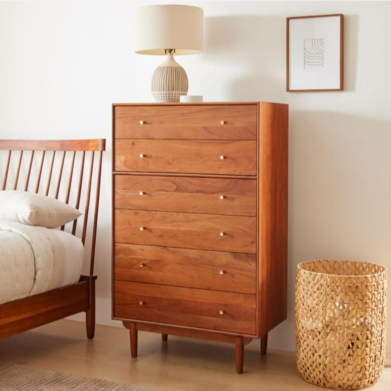 West Elm Keira 6 Drawer Dresser, Cool Walnut - image-2