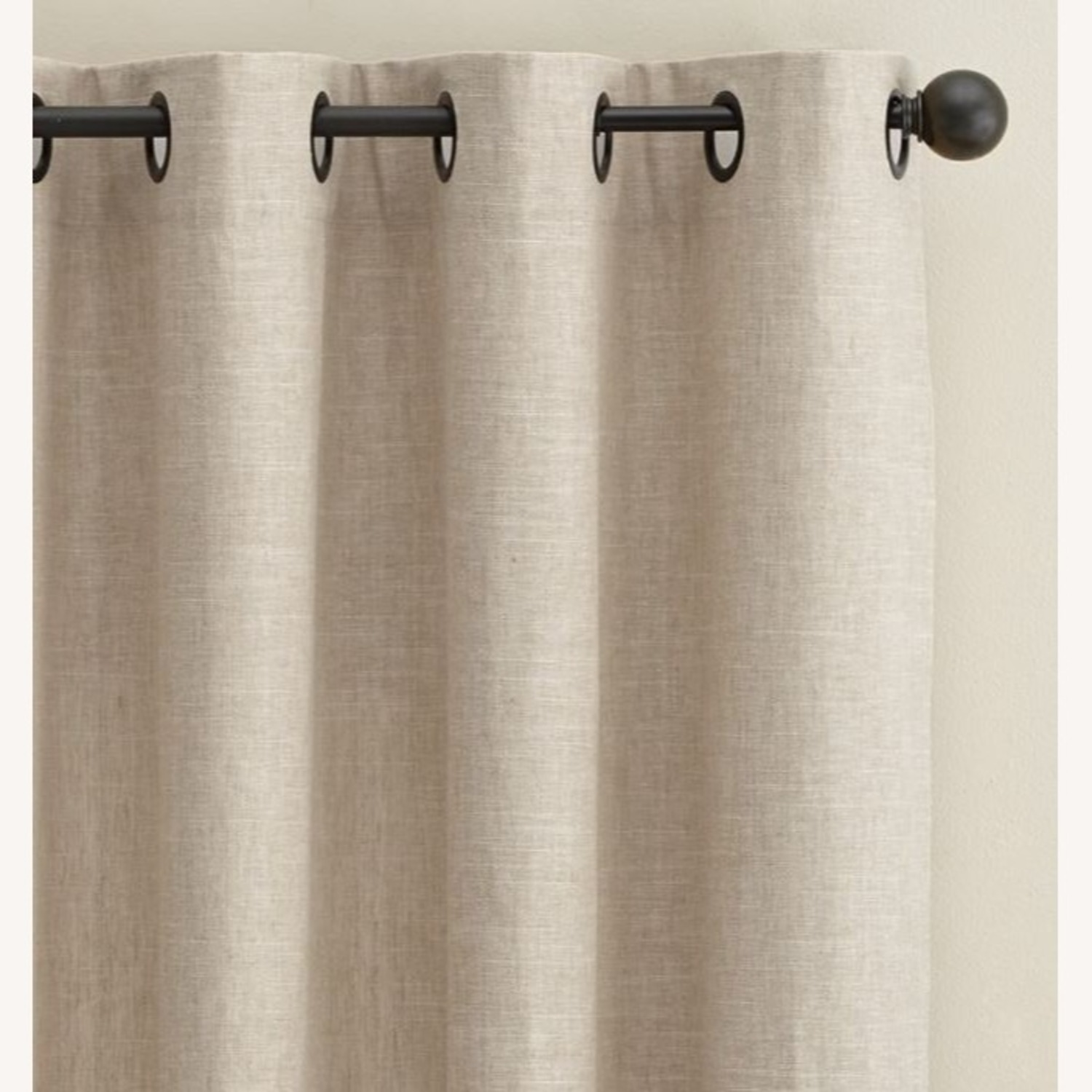 Pottery Barn Linen Curtains with Blackout Liners - image-1