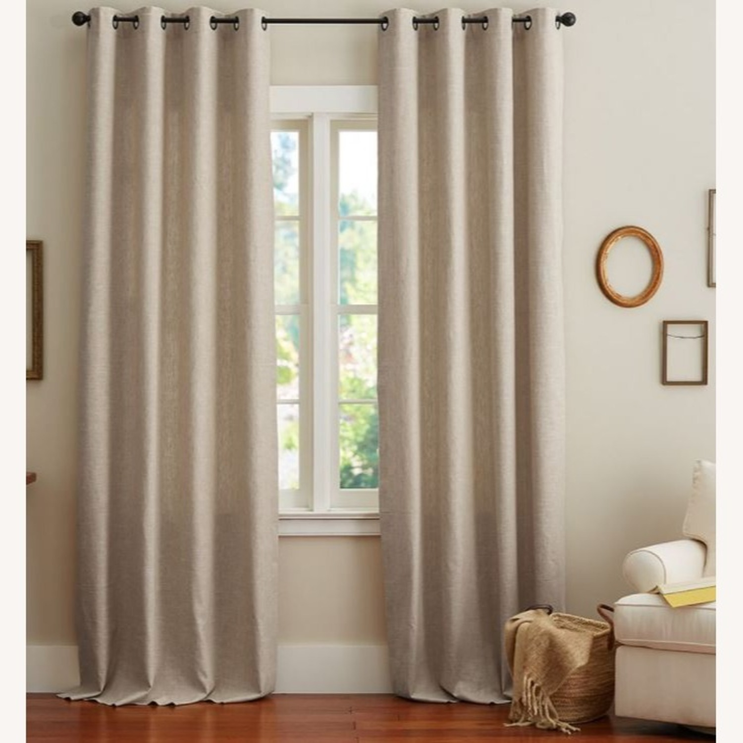 Pottery Barn Linen Curtains with Blackout Liners - image-2