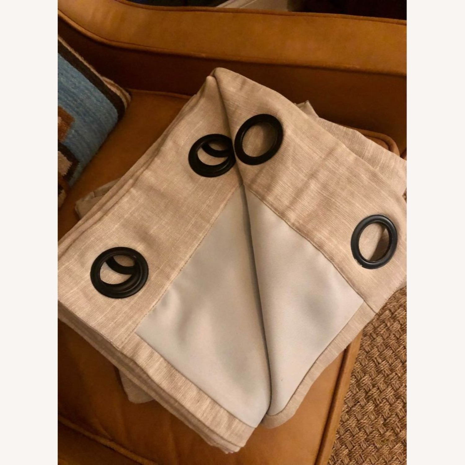 Pottery Barn Linen Curtains with Blackout Liners - image-3