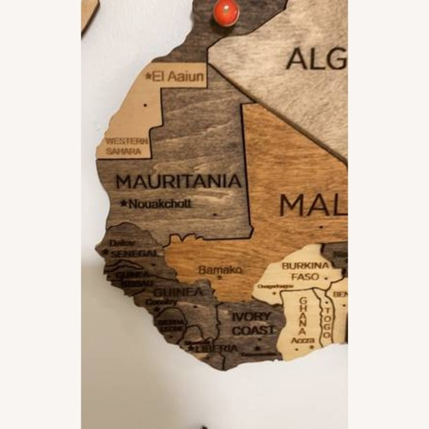 3D Wooden World Map Multicolor - image-6