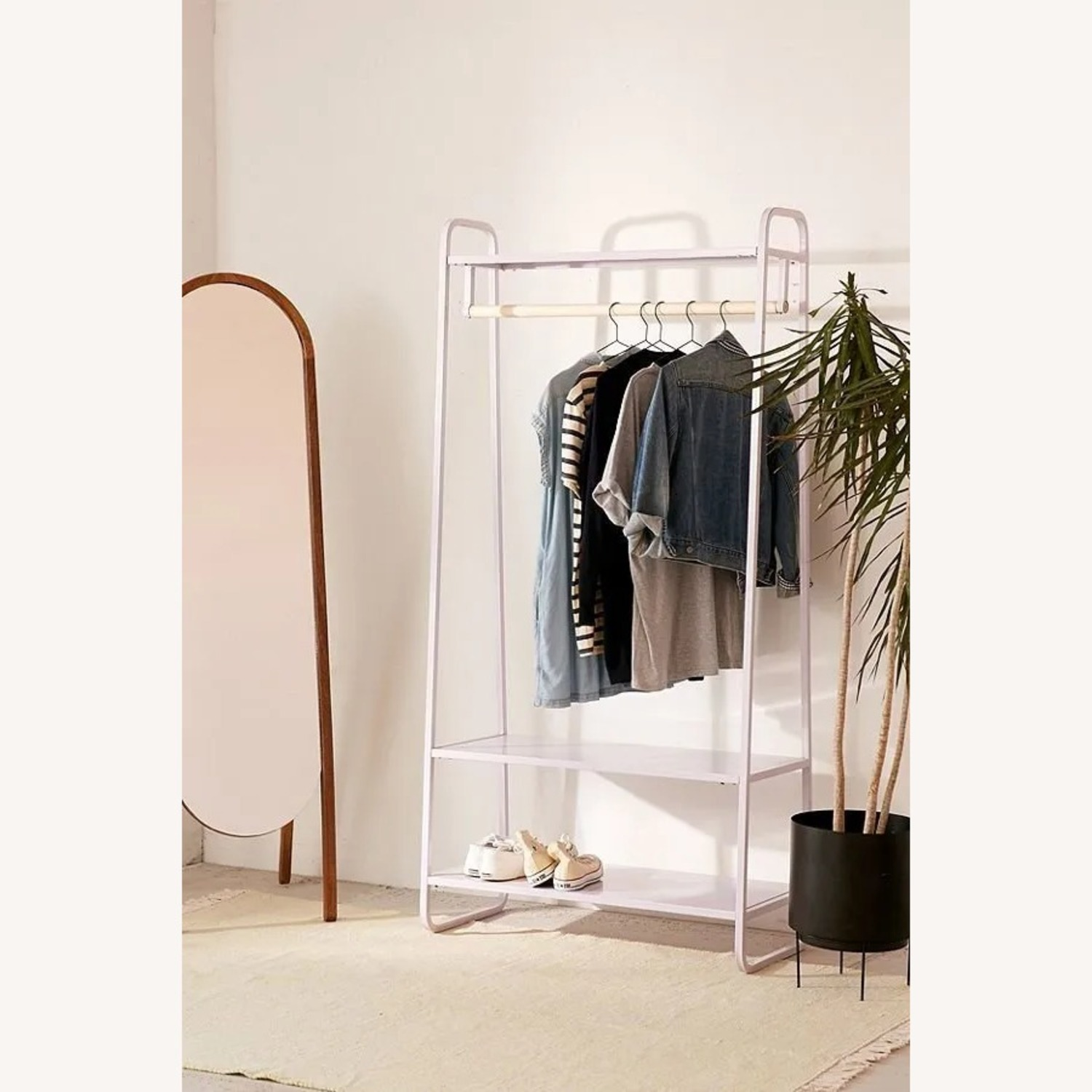 Urban Outfitters Lilac Clothing Rack - image-1