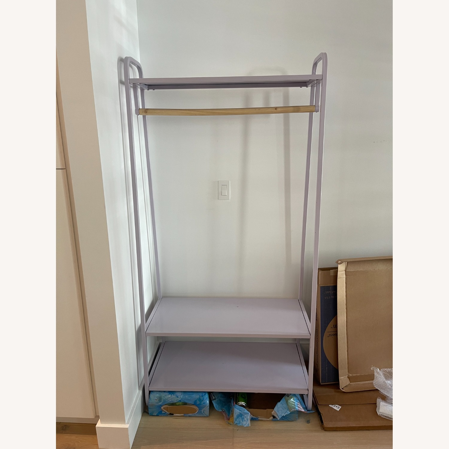 Urban Outfitters Lilac Clothing Rack - image-2