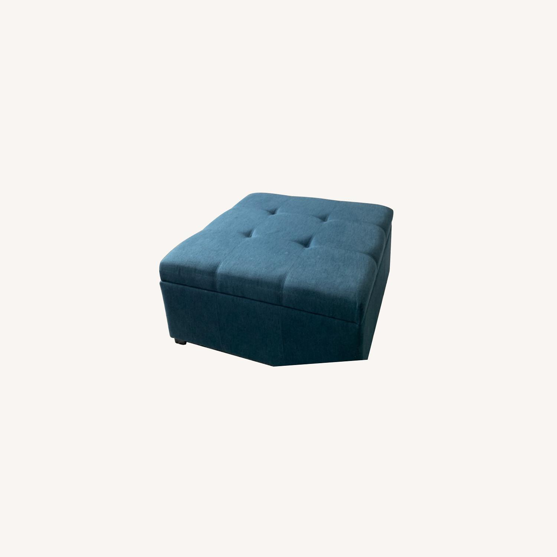 Wayfair Blue Storage Ottoman - image-0