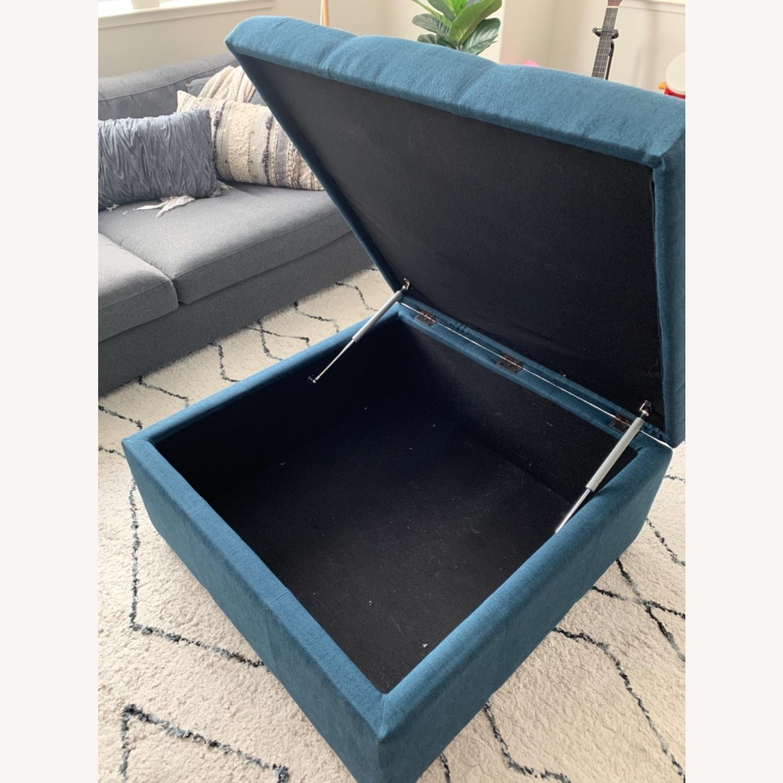 Wayfair Blue Storage Ottoman - image-3