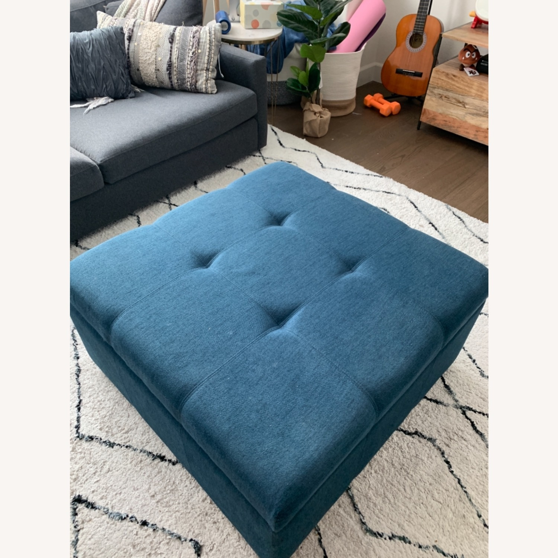 Wayfair Blue Storage Ottoman - image-2