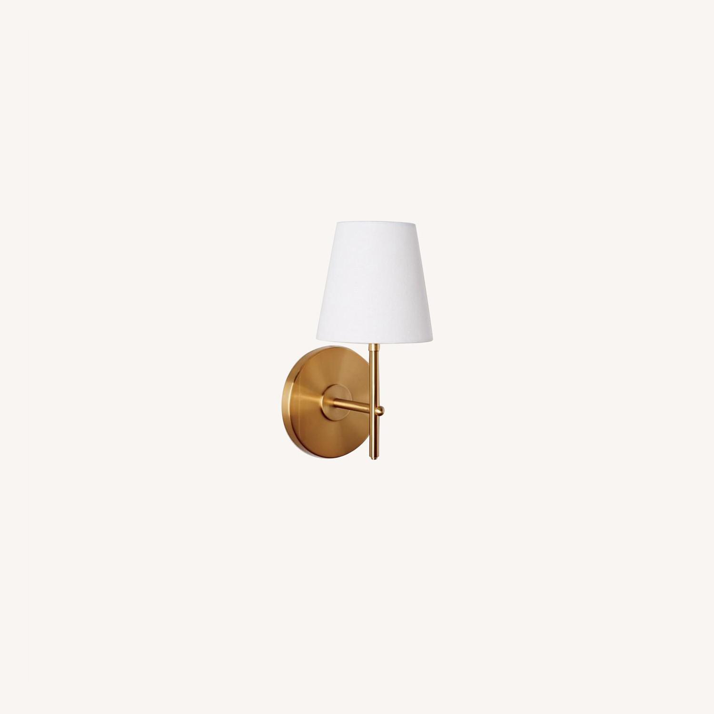 West Elm Arc Mid-Century Sconce, Brass, 1-Light - image-0