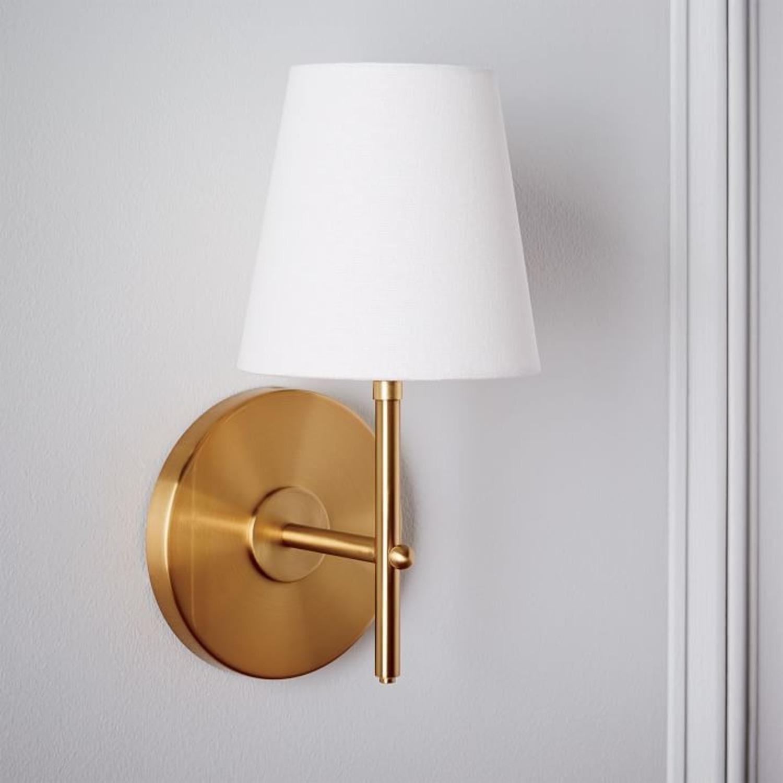West Elm Arc Mid-Century Sconce, Brass, 1-Light - image-2