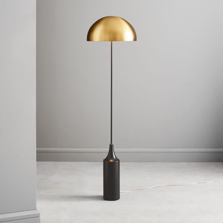 West Elm Hudson Floor Lamp, Antique Brass - image-1