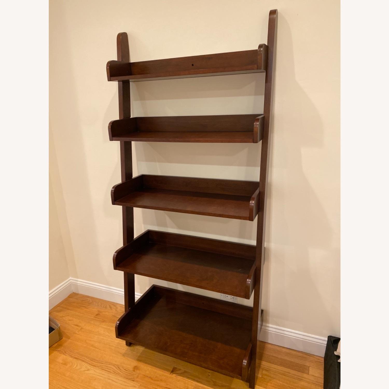 Pottery Barn Espresso Ladder Bookcase - image-4