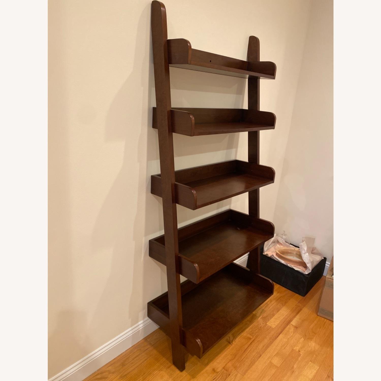 Pottery Barn Espresso Ladder Bookcase - image-3