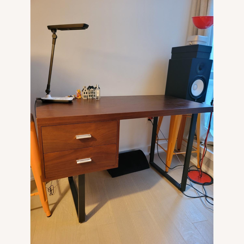 Walnut Wood Office Writing Desk - image-1