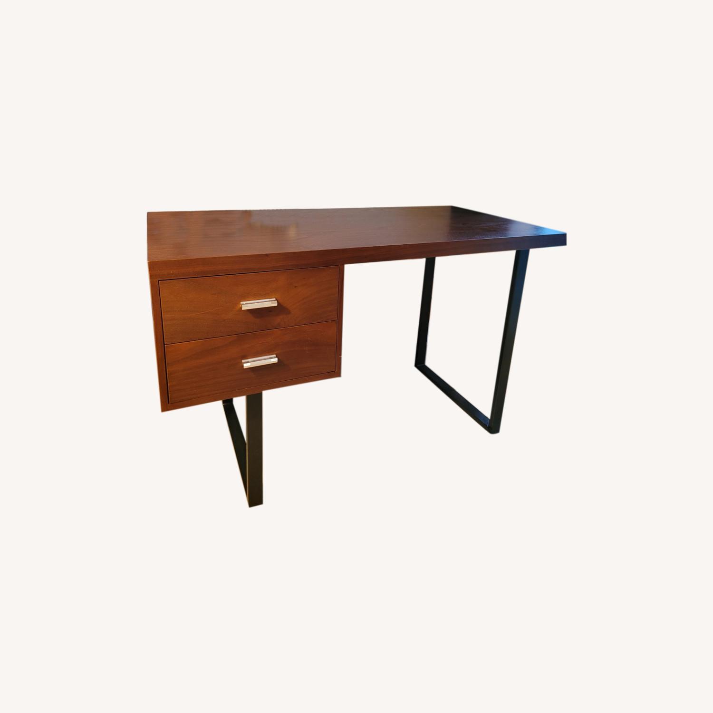 Walnut Wood Office Writing Desk - image-0