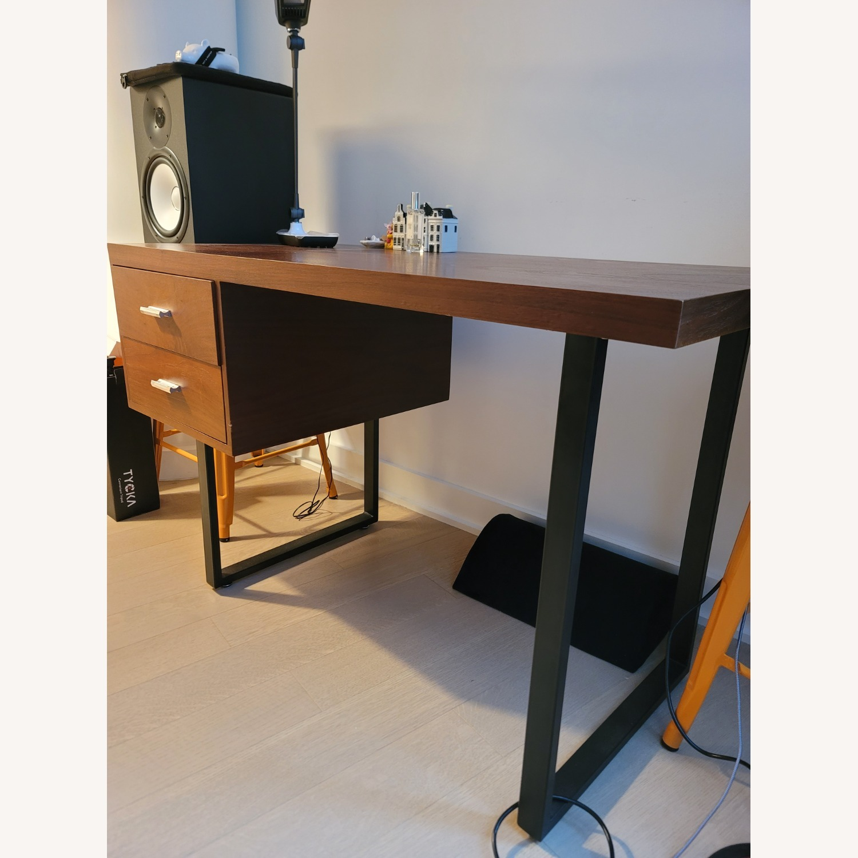 Walnut Wood Office Writing Desk - image-2