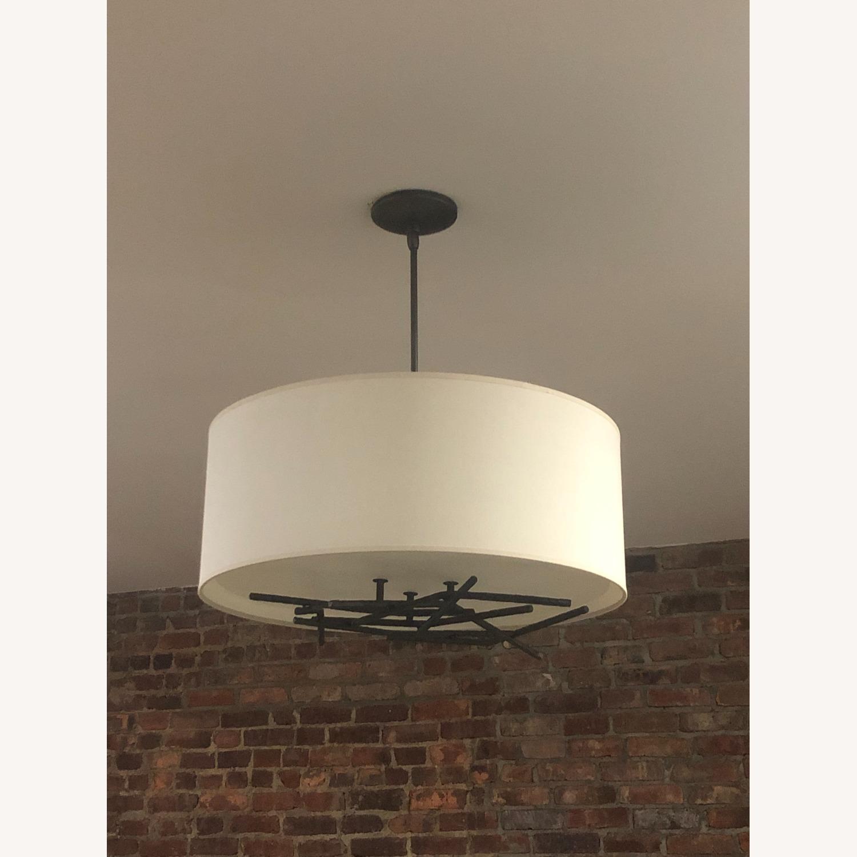 Semi-Flush Ceiling Drum Pendant - image-2