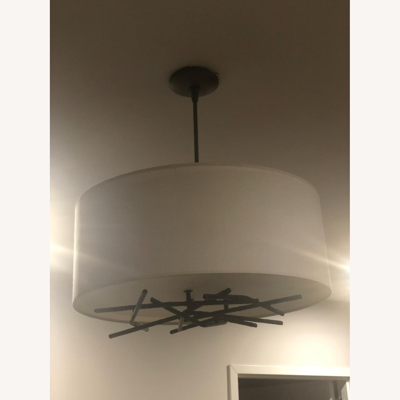 Semi-Flush Ceiling Drum Pendant - image-7