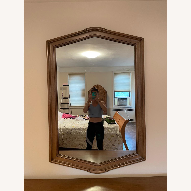 Wood Framed Mirror - image-1