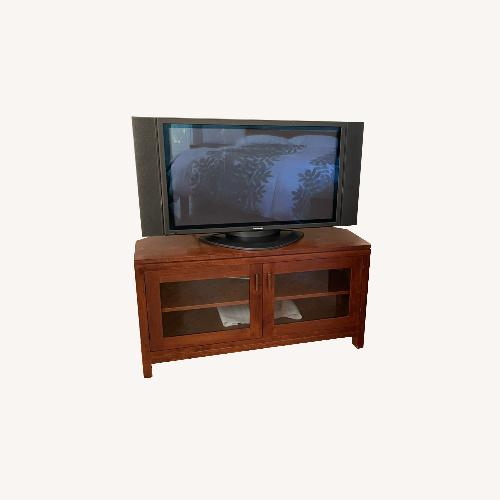 Used Crate & Barrell Beckett Corner Media Cabinet for sale on AptDeco