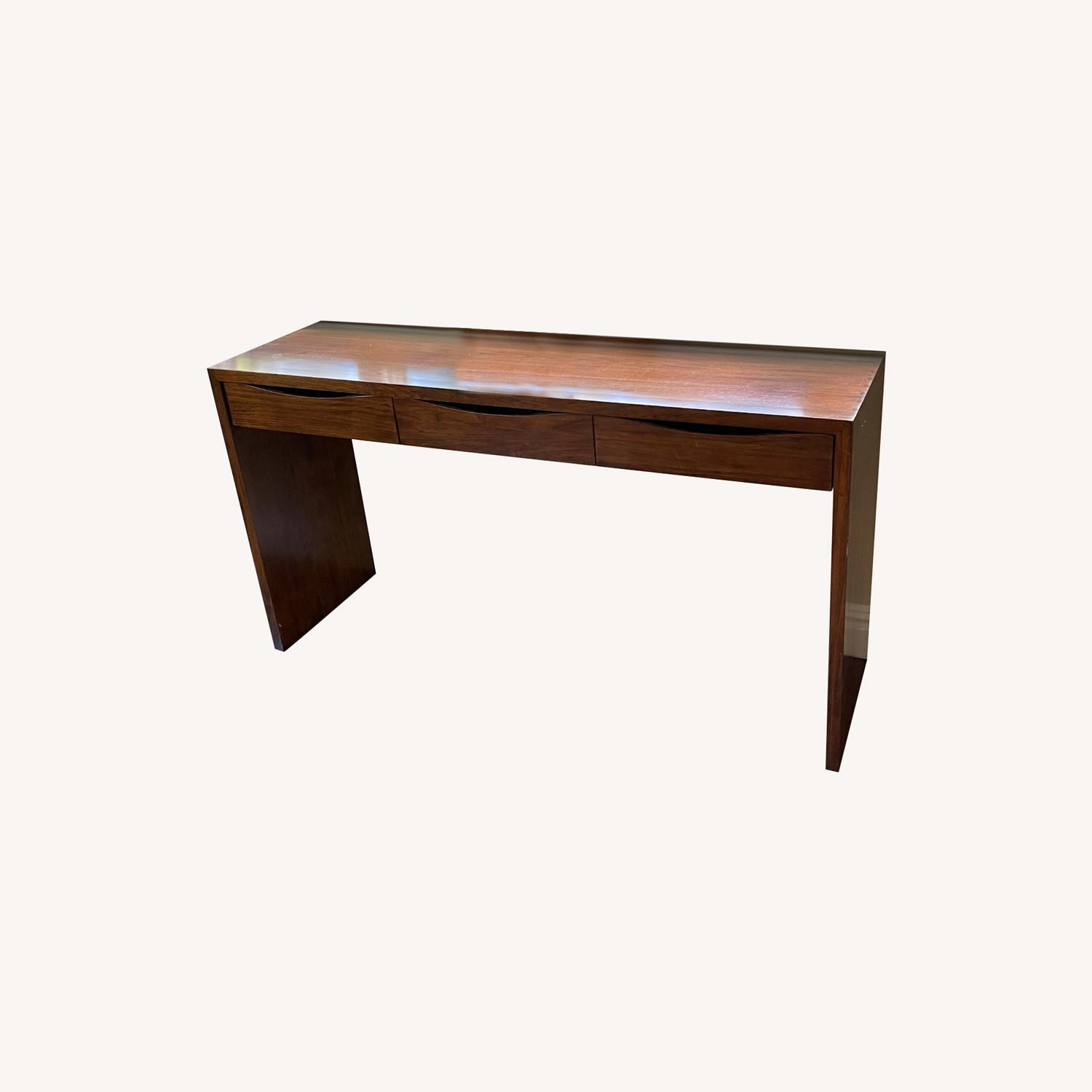 Crate & Barrel Luna Console Table in Solid Walnut - image-0