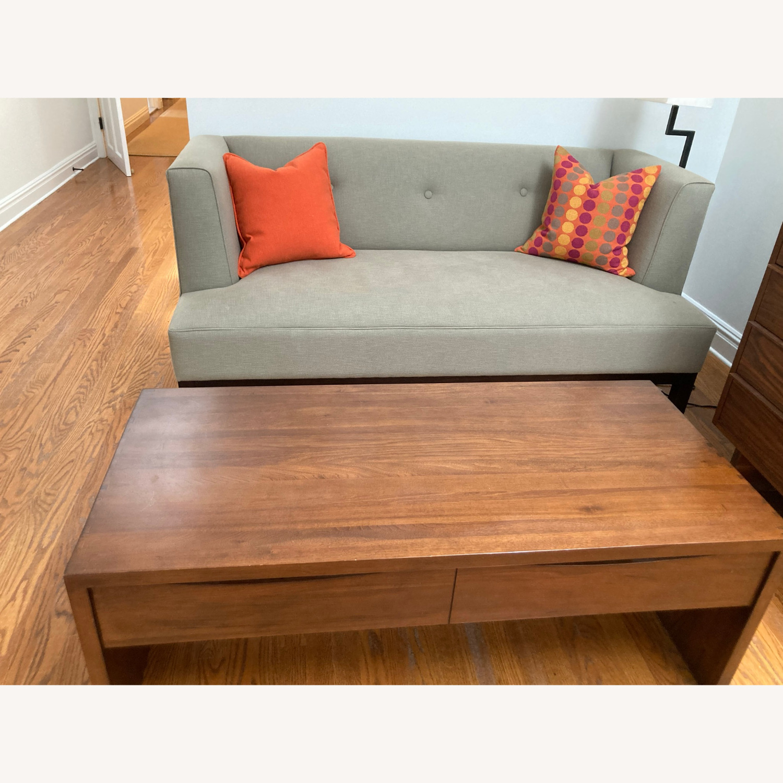 Crate & Barrel Luna Coffee Table in Solid Walnut - image-1