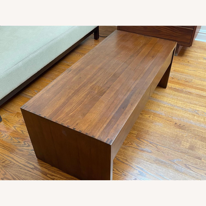 Crate & Barrel Luna Coffee Table in Solid Walnut - image-7
