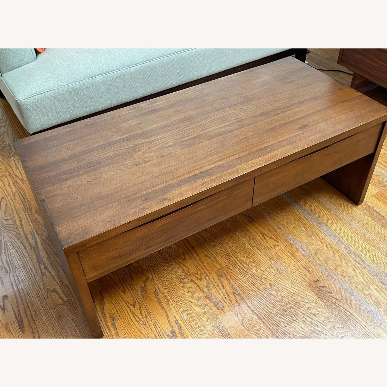 Crate & Barrel Luna Coffee Table in Solid Walnut - image-8