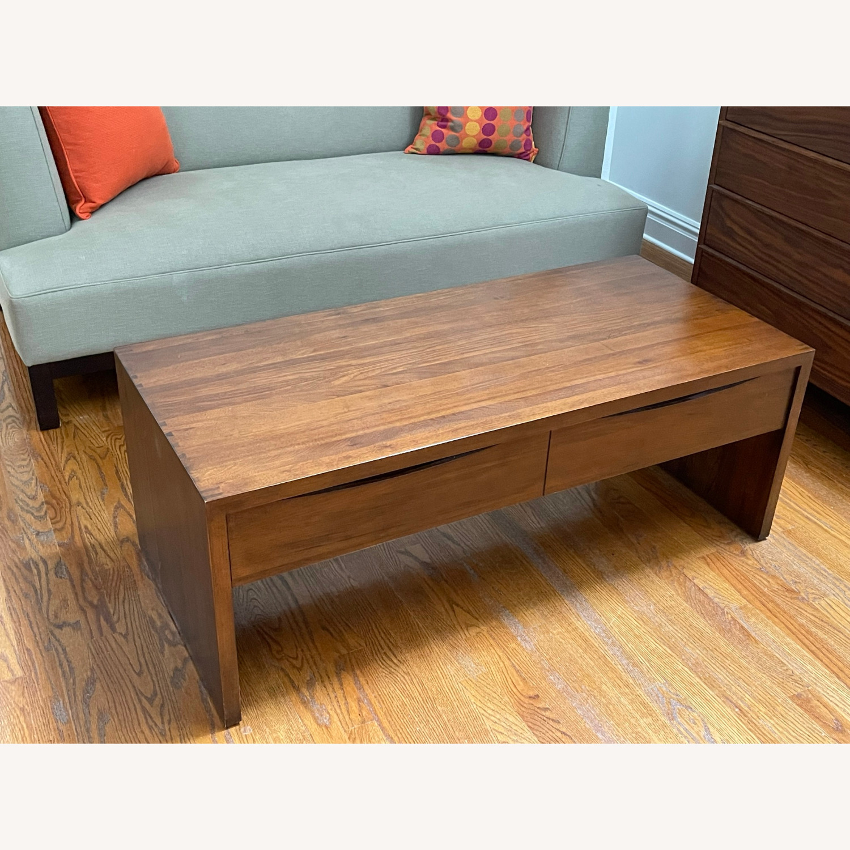 Crate & Barrel Luna Coffee Table in Solid Walnut - image-4