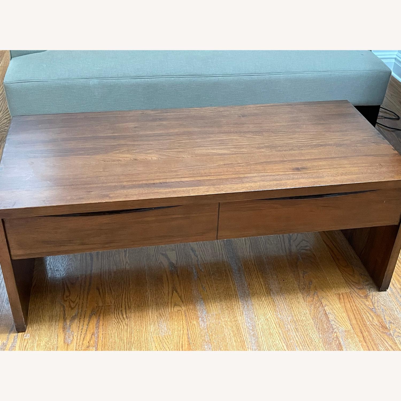 Crate & Barrel Luna Coffee Table in Solid Walnut - image-3