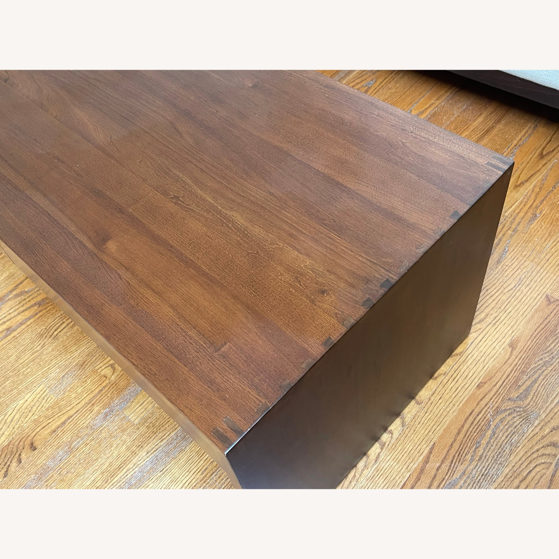 Crate & Barrel Luna Coffee Table in Solid Walnut - image-5