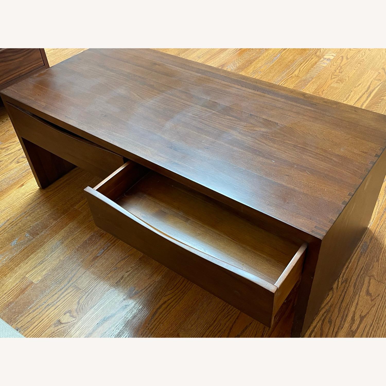 Crate & Barrel Luna Coffee Table in Solid Walnut - image-6