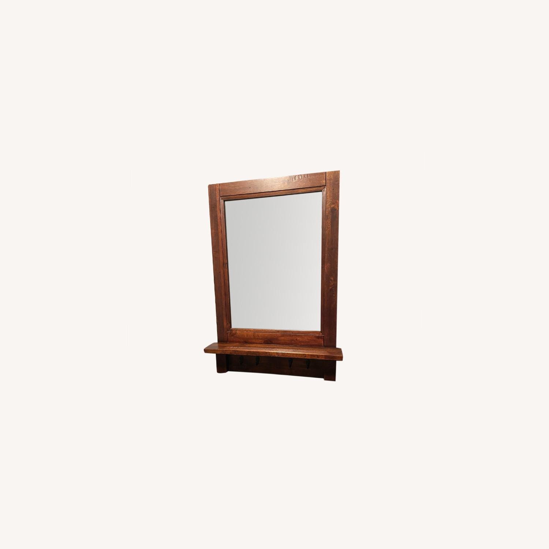 Arhaus Entry Mirror with Key Hooks - image-0